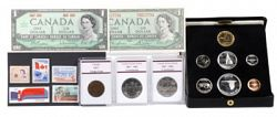 1867-1967 Centennial Proof Set With Bonus Historic Coins, Stamps & Banknotes