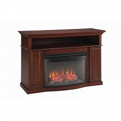 Sheppard Electric Fireplace, 25 Inch Curved Firebox, Cherry