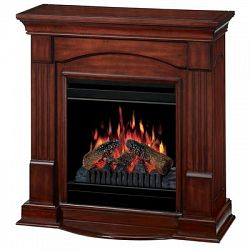 Knock Down Compact Fireplace - Burnished Walnut