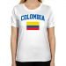 Colombia Ladies Flag Classic Fit T-Shirt - White