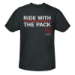 The Devils Ride With The Pack Black T-Shirt