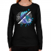 Rochester Knighthawks Ladies Fusion Long Sleeve Classic Fit T-Shirt - Black