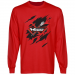 Philadelphia Wings Swoop Long Sleeve T-Shirt - Red