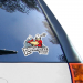 Calgary Roughnecks 8'' x 8'' Color Die-Cut Decal