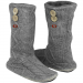 San Francisco 49ers Women's Two-Button Cable Knit Boots - Gray