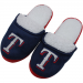 Texas Rangers Ladies Glitter Sherpa Slippers - Navy Blue/Red