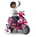Pink Electric Ride On Scooter For Girls W/Training Wheels