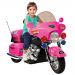 Pink Ride On Motorcycle Chopper For Kids - Battery Powered
