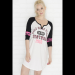 White Do not disturb raglan nightie