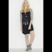 Black Full moon raglan nightie