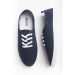 Navy laced sneakers