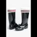 Striped rain boot liners