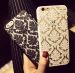 iPhone - Phone Case Back Cover for iPhone 6 Case Damask Vintage Luxury Flower Pattern - White