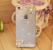 iPhone - Rhinestonel Case Cover For Apple Iphone 5 5s Iphone 4 4s Cover , Luxury Diamond Hard Back Skin Cover Mobile phone Protective Case - 5S
