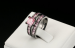 Alluring in every way this 18K Black Gold Plated Luxury set of Fashion Cocktail Party Ring Set Pink Princess AAA CZ Diamond - 7
