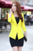 Candy One Button Blazer - S / Rose