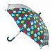 CTM Kids' Star Print Stick Umbrella with Single Clear Panel