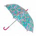 CTM Girls' Butterfly and Bee Print Hook Handle Umbrella
