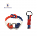 Bran Marion Red, White and Blue Nautical Bracelet and Keychain - 7.1 inch - 18 cm / Red/Dark Blue/White