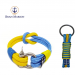 Bran Marion Yellow and Blue Rope Bracelet and Keychain - 7.9 inch - 20 cm / Blue and Yellow