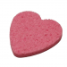 Pink Heart Shape Compressed Cellulose Facial Sponges - 5000 / Pink