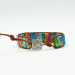 Handmade Multi-Color Chakra Leather Wrap Bracelet