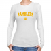Loyola Chicago Ramblers Ladies White Logo Arch Long Sleeve Slim Fit T-shirt-