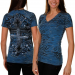 Sinful Ladies Pacific Blue Oleander Premium Baby V-neck T-shirt