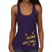 Albany Great Danes Ladies Paint Strokes Junior's Ribbed Tank Top - Purple