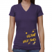 Albany Great Danes Ladies Paint Strokes V-Neck T-Shirt - Purple