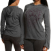 2011 PGA Championship Ladies Heathered Long Sleeve Hoodie T-Shirt - Charcoal