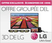 OFFRE GROUPÉE DEL 3D DE LG