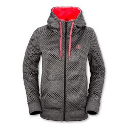 Women's Stone Dot Fleece-Black