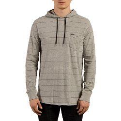 Men's Layer Glitch Hoodie-Grey