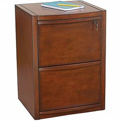 Staples Deluxe Wood Vertical File Cabinet 2 Drawer