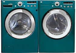 Lg Front Load Washer And Dryer Pair Bahama Blue Sale