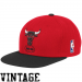 Mitchell & Ness Chicago Bulls Red-Black Two-Tone Snapback Adjustable Hat