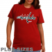 Majestic Washington Capitals Ladies Plus Size Primary Logo T-Shirt - Red