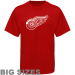 Majestic Detroit Red Wings Big Sizes Primary Logo T-Shirt - Red
