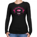 Chicago Rush Ladies Paisleyball Long Sleeve Slim Fit T-Shirt - Black