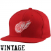 Mitchell & Ness Detroit Red Wings Basic Vintage Logo Adjustable Hat - Red