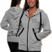 Chase Authentics Kevin Harvick Ladies Speed Diva Full Zip Hoodie - Ash