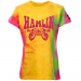 Chase Authentics Denny Hamlin Youth Girls Race Princess Tie Dye T-Shirt - Yellow