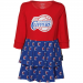 Los Angeles Clippers Toddler Girls Long Sleeve Layered Dress - Red/Royal Blue