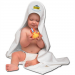 McArthur Denver Nuggets Hooded Baby Towel - White