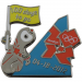 2012 London Summer Olympics Wenlock 100 Days To Go Collectible Pin