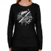 Edmonton Rush Ladies Fusion Long Sleeve Classic Fit T-Shirt - Black
