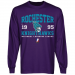 Rochester Knighthawks Established Team Color Long Sleeve T-Shirt - Purple
