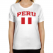 Peru Ladies Flag Classic Fit T-Shirt - White