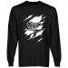 Edmonton Rush Swoop Long Sleeve T-Shirt - Black